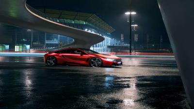 4K Red BMW i8 Wallpaper 64648