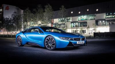 Blue BMW i8 Car Wallpaper 64646