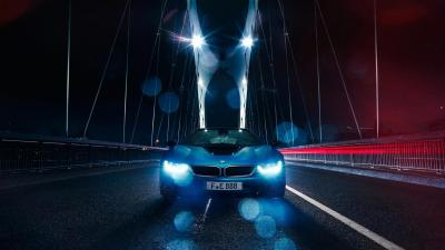 BMW i8 On Bridge HD Wallpaper 64656