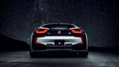 BMW i8 Rear View HD Wallpaper 64657