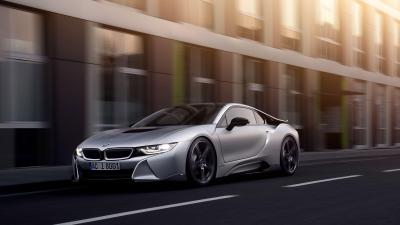BMW i8 Rolling Shot Background Wallpaper 64660