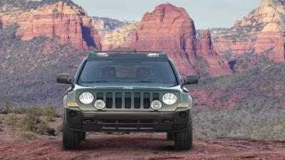 Green Jeep Patriot Wide Wallpaper 65171
