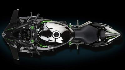 Kawasaki Ninja H2 Top View Wallpaper 64737
