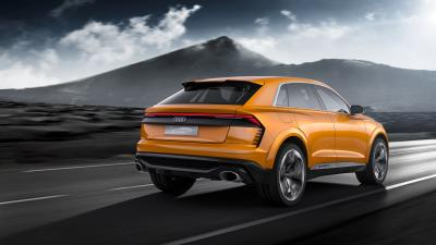 Orange Audi Q8 Wide Wallpaper 66021