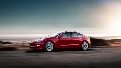 Red HD Tesla Model 3 Wallpaper 66042