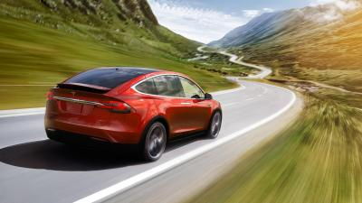 Red Tesla Model X Wallpaper 66054