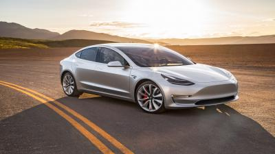 Silver Tesla Model 3 Wallpaper 66037