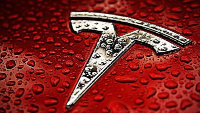 Tesla Logo Background Wallpaper 66064