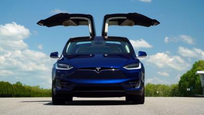 Tesla Model X Front View Wallpaper 66056