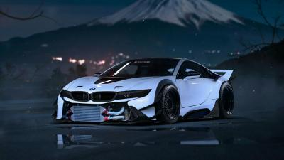 White BMW i8 Upgraded Wallpaper 64642