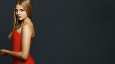 Chloe Grace Moretz Red Dress Wallpaper 66667