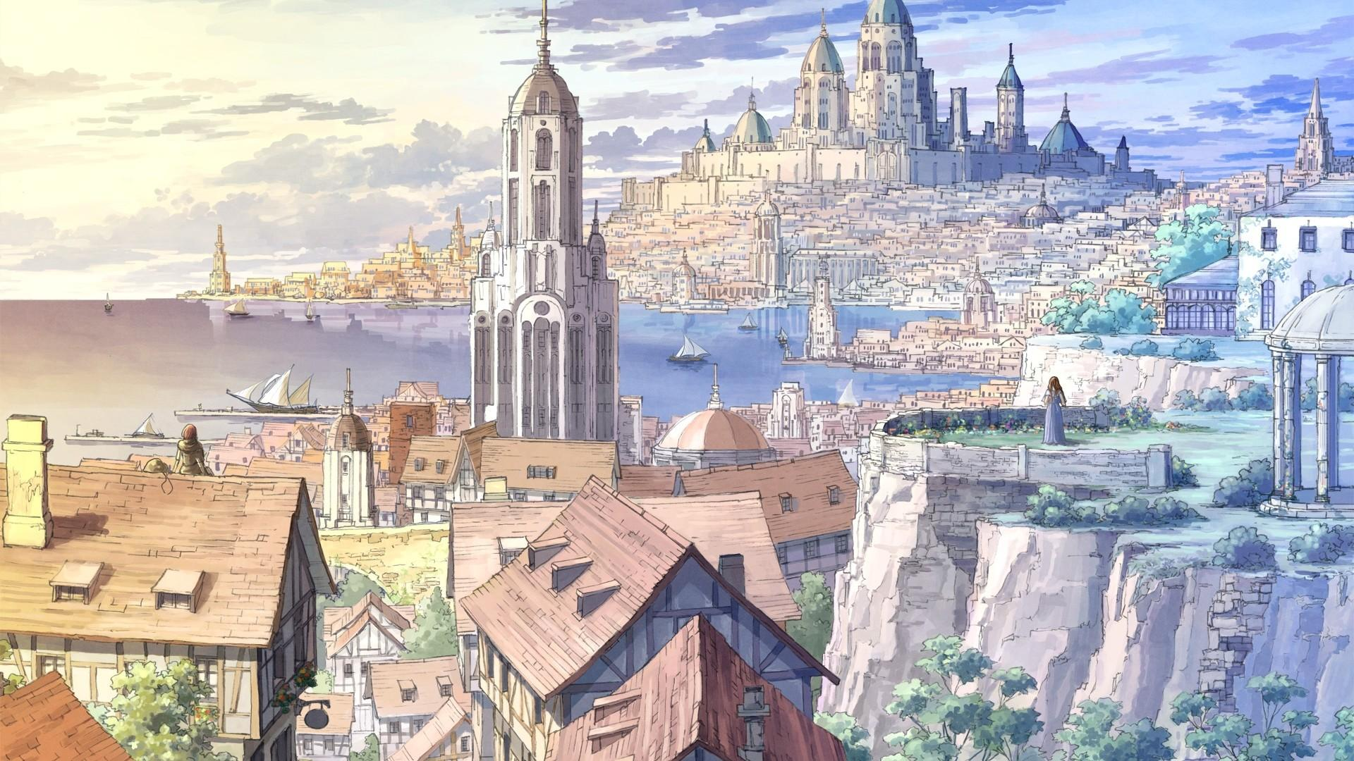 anime city art wallpaper 67460