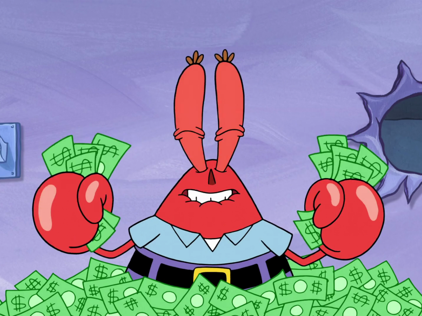 mr krabs money wallpaper 66735