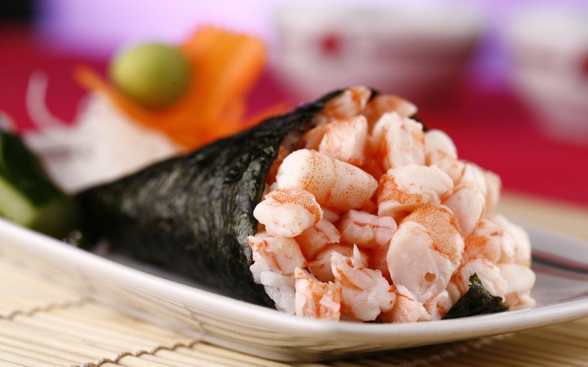 shrimp sushi wallpaper 66894