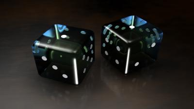 3D Dice Background Wallpaper 66802