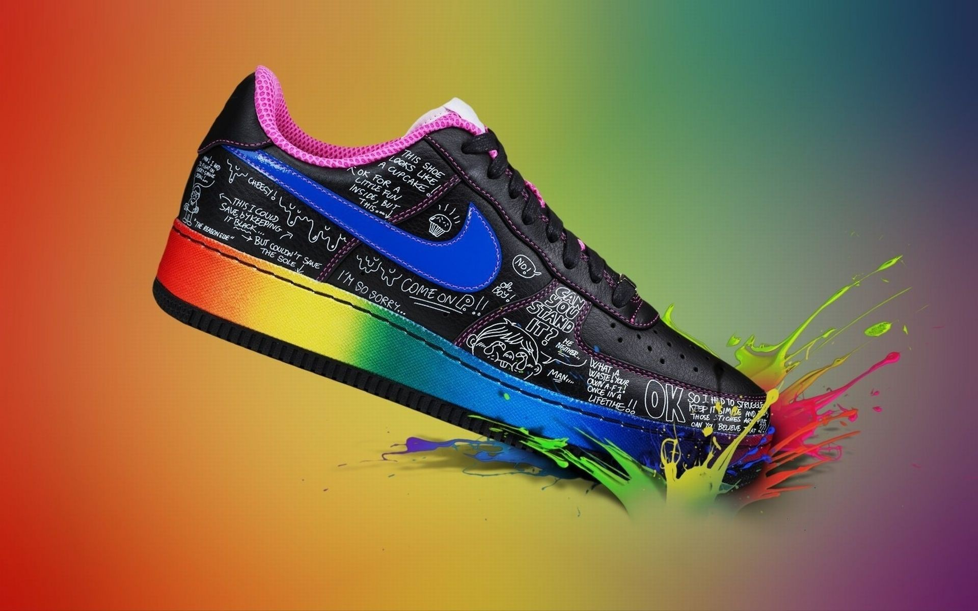 colorful nike shoes wallpaper 67583