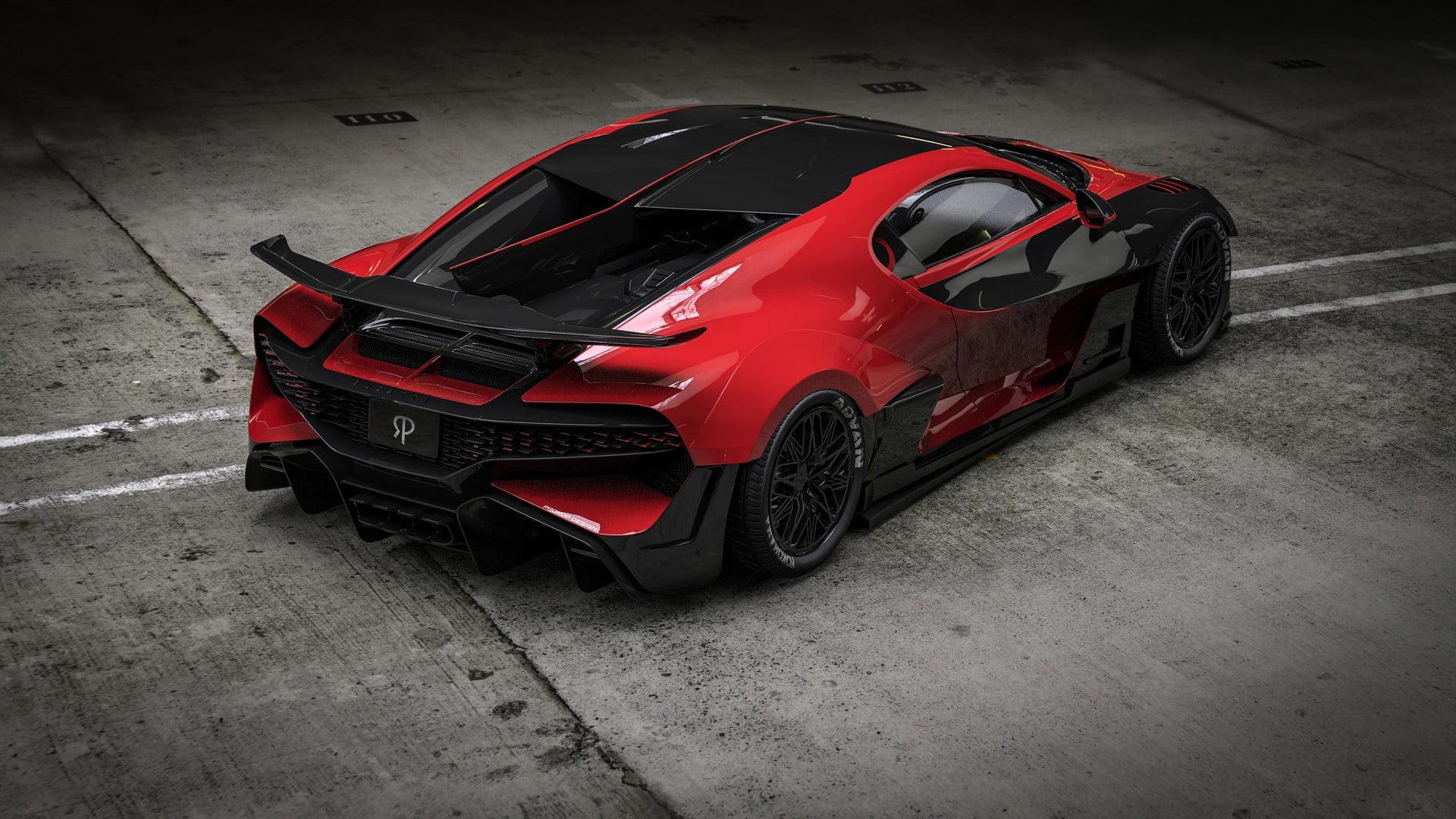 red and black bugatti wallpaper 68649