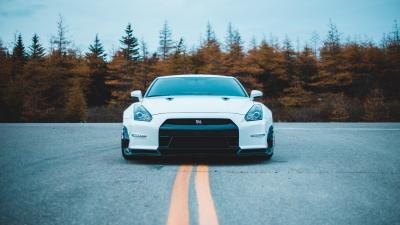 White GTR HD Wallpaper 68598