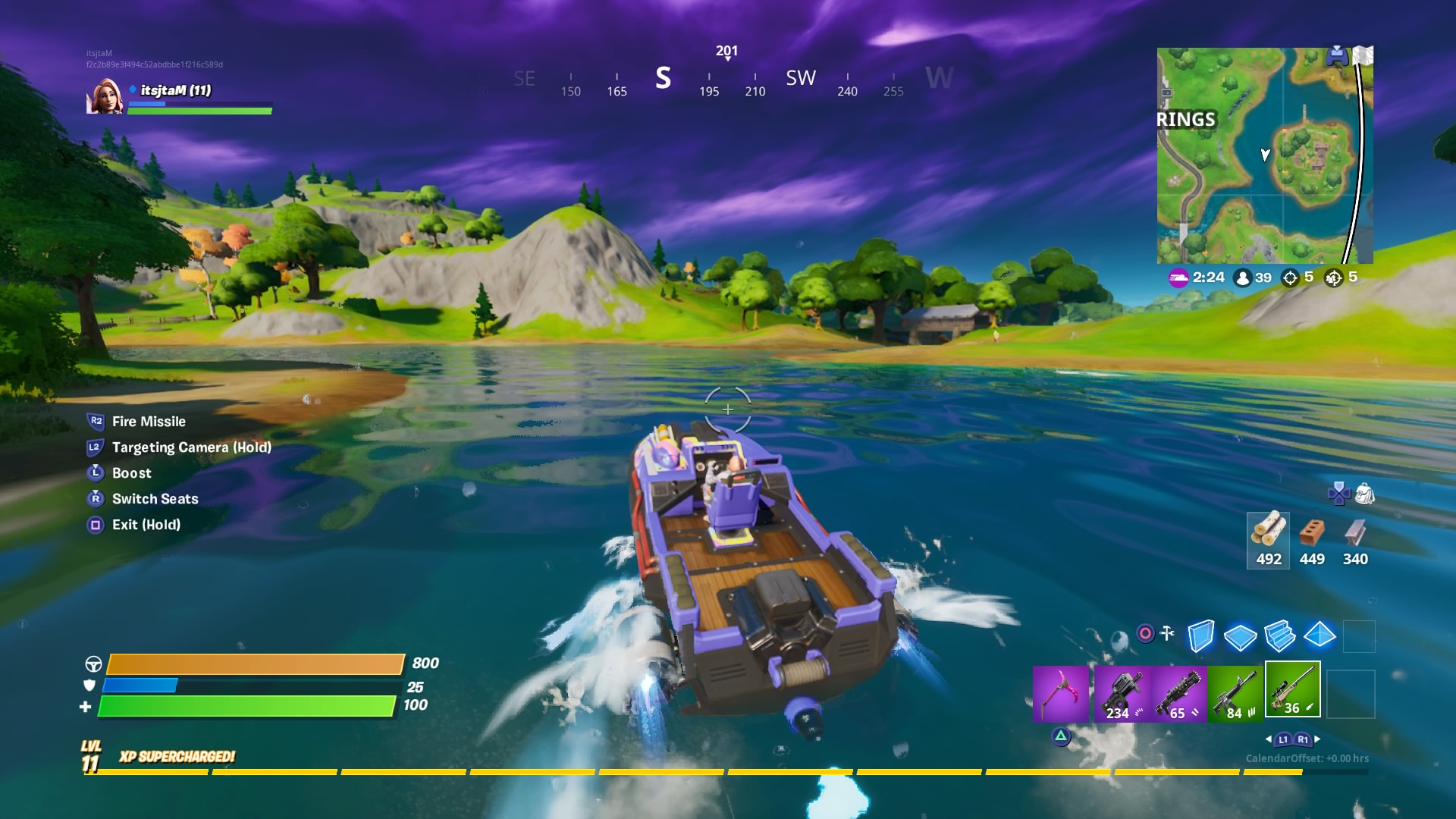 fortnite driving boat wallpaper 69203