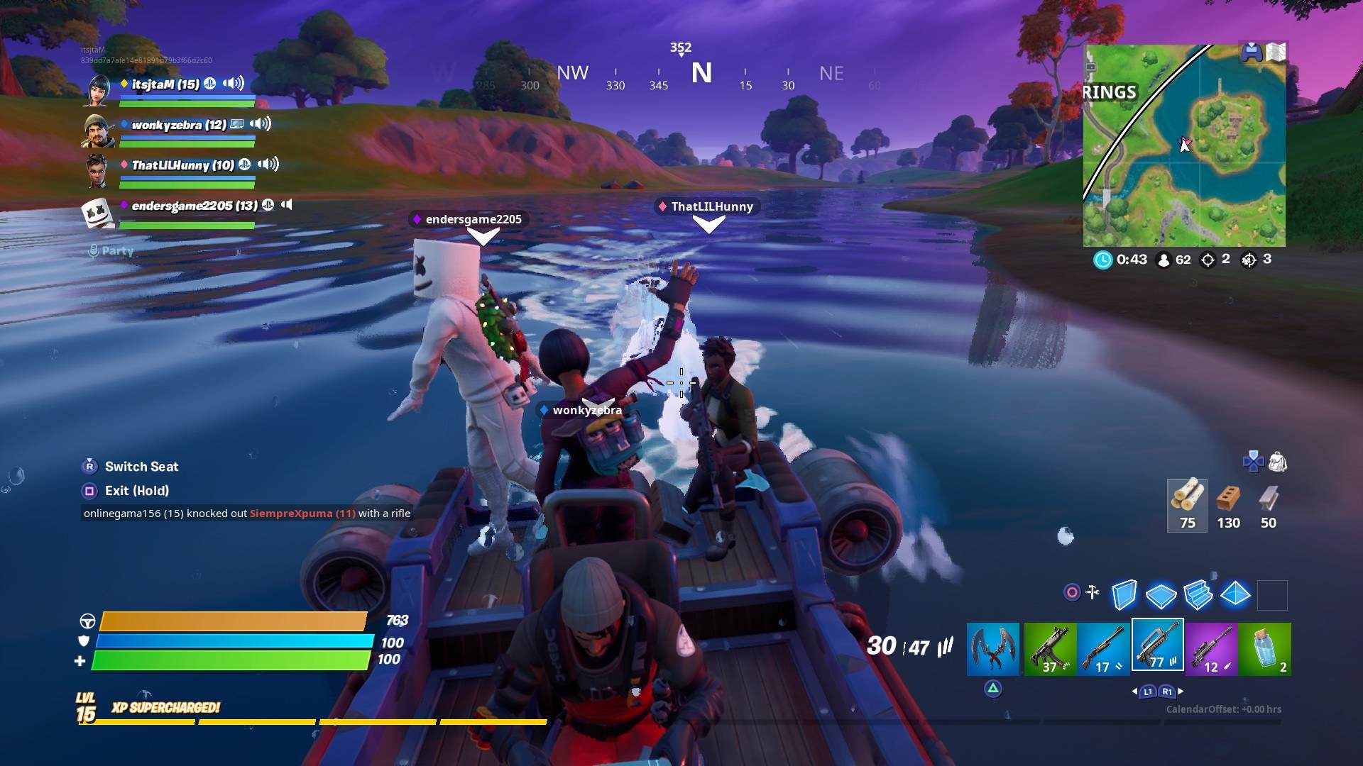 fortnite squad boat wallpaper 69214