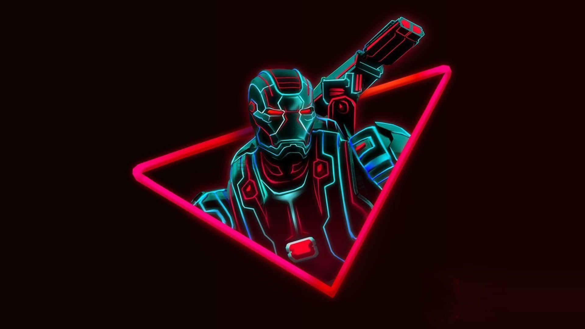 neon avengers desktop wallpaper 68546