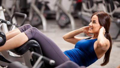 Gym Woman Sit ups Wallpaper 68677