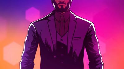 John Wick Hex Background Wallpaper 68887