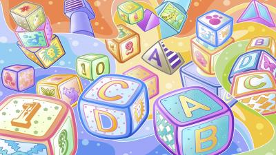 Kids Blocks Background Wallpaper 68644