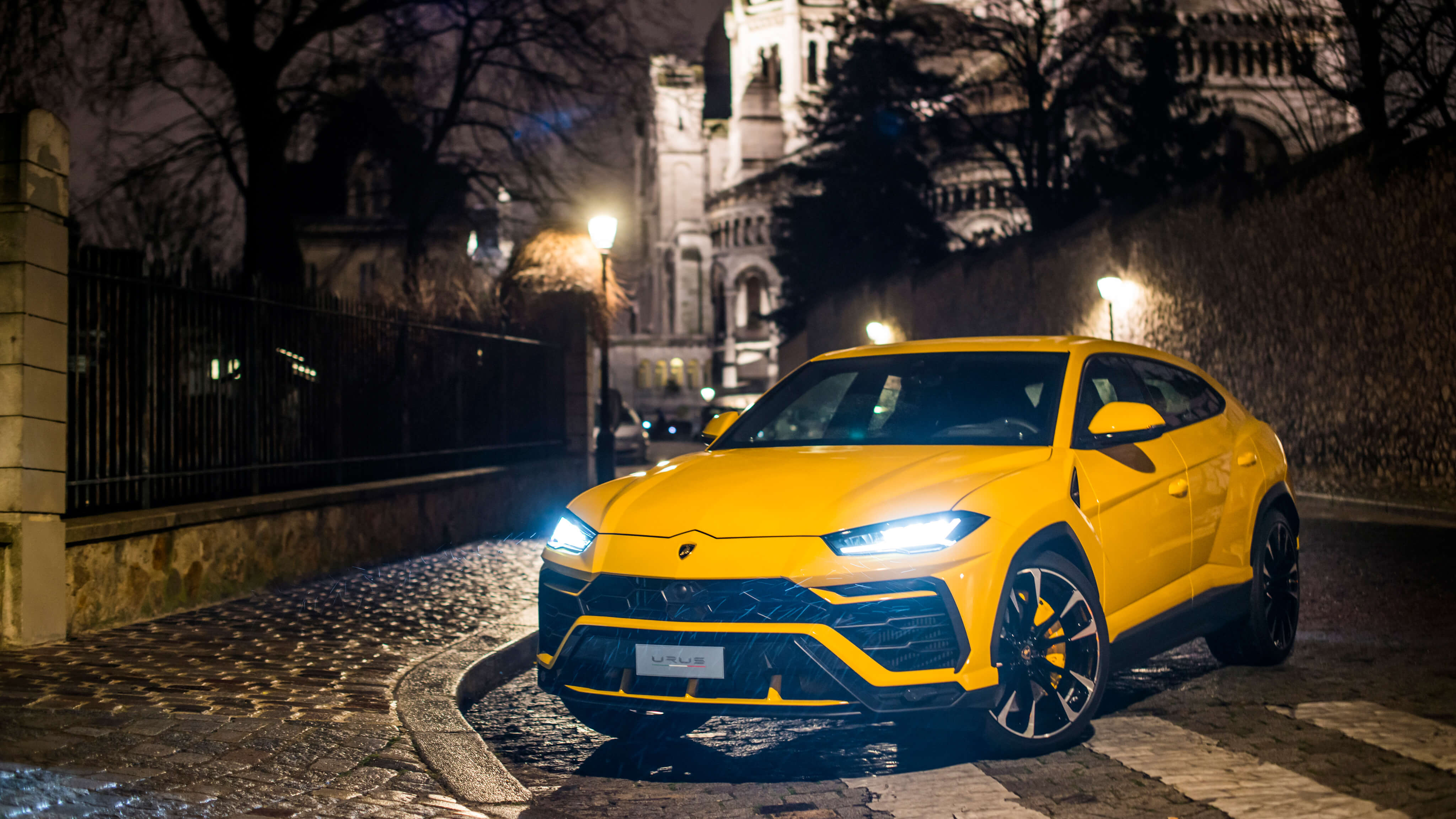 lamborghini urus headlights hd wallpaper 66526