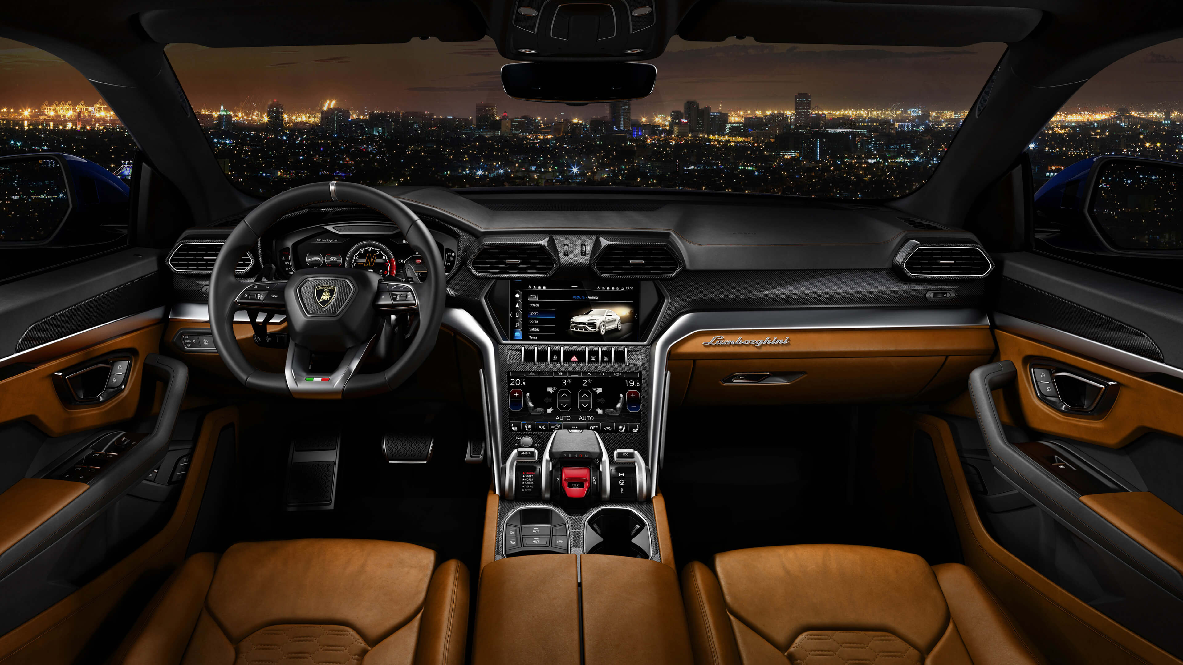 Lamborghini Urus Interior Hd Wallpaper 66517 3840x2160px