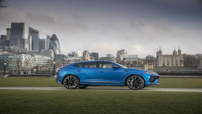 Blue Lamborghini Urus Wallpaper 66528