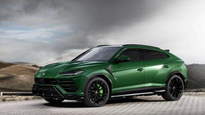 Green Lamborghini Urus Widescreen Wallpaper 66534