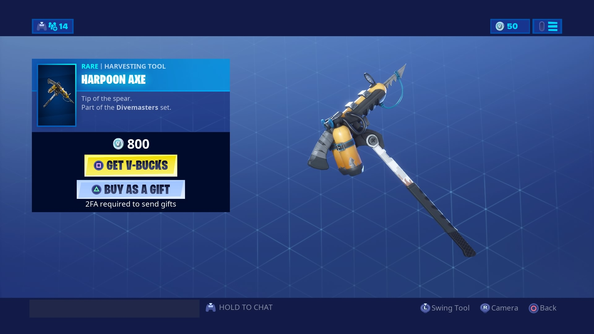 fortnite harpoon axe wallpaper 67973
