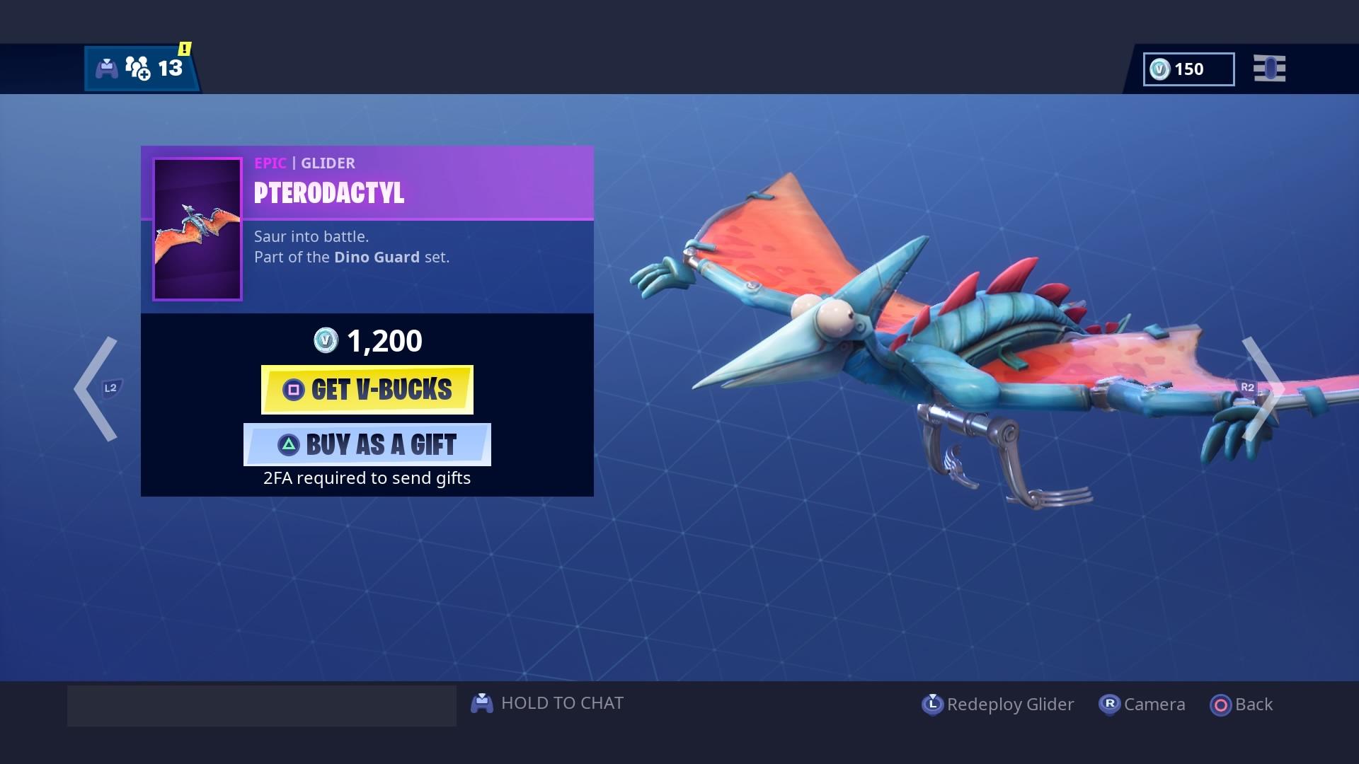 fortnite pterodactyl glider wallpaper 67537
