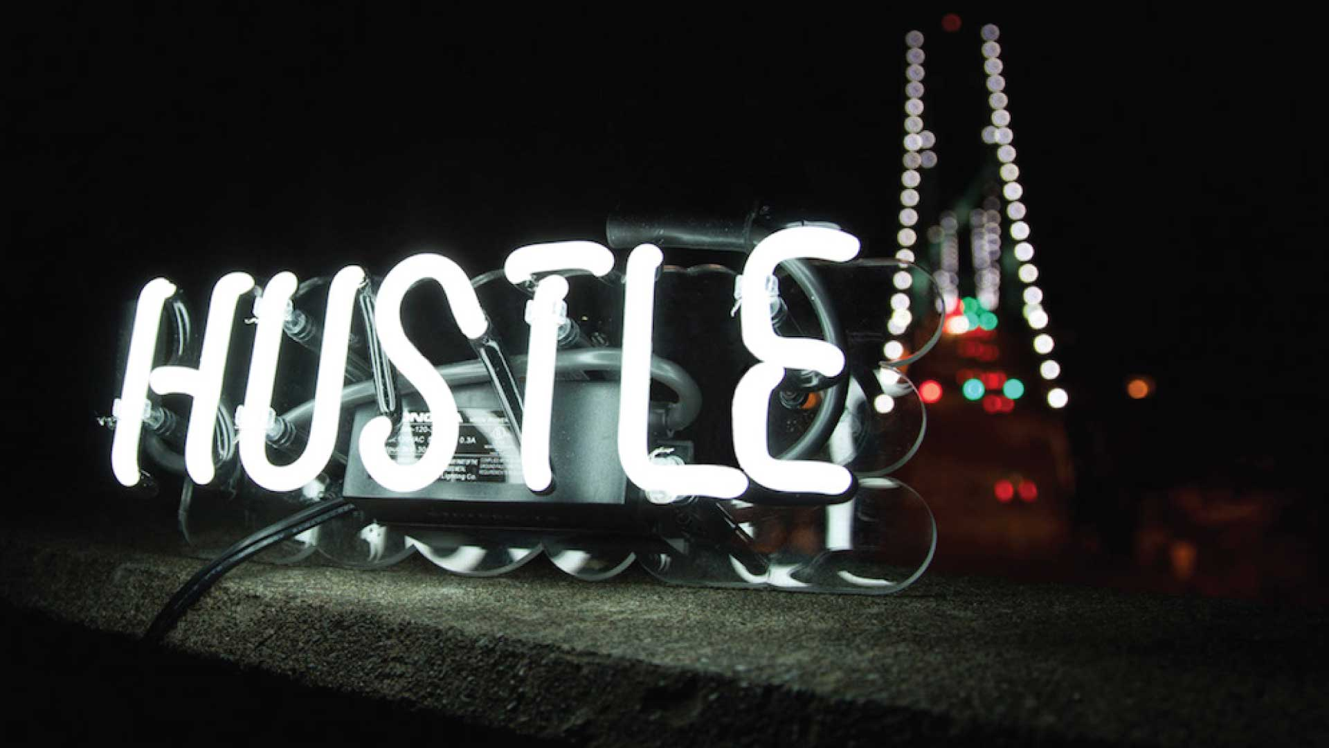 hustle hd neon sign wallpaper 66619