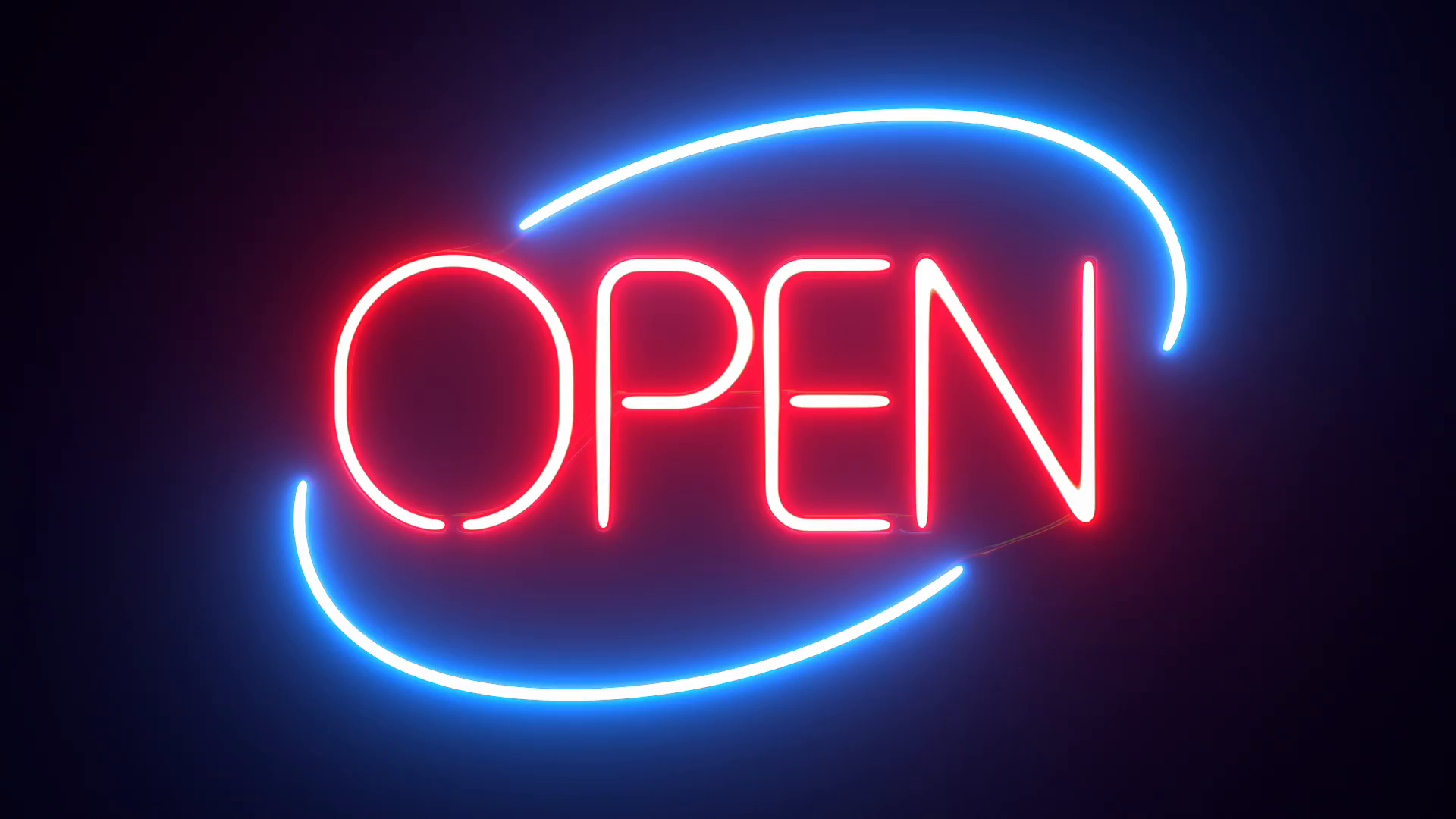 open neon sign desktop wallpaper 66629