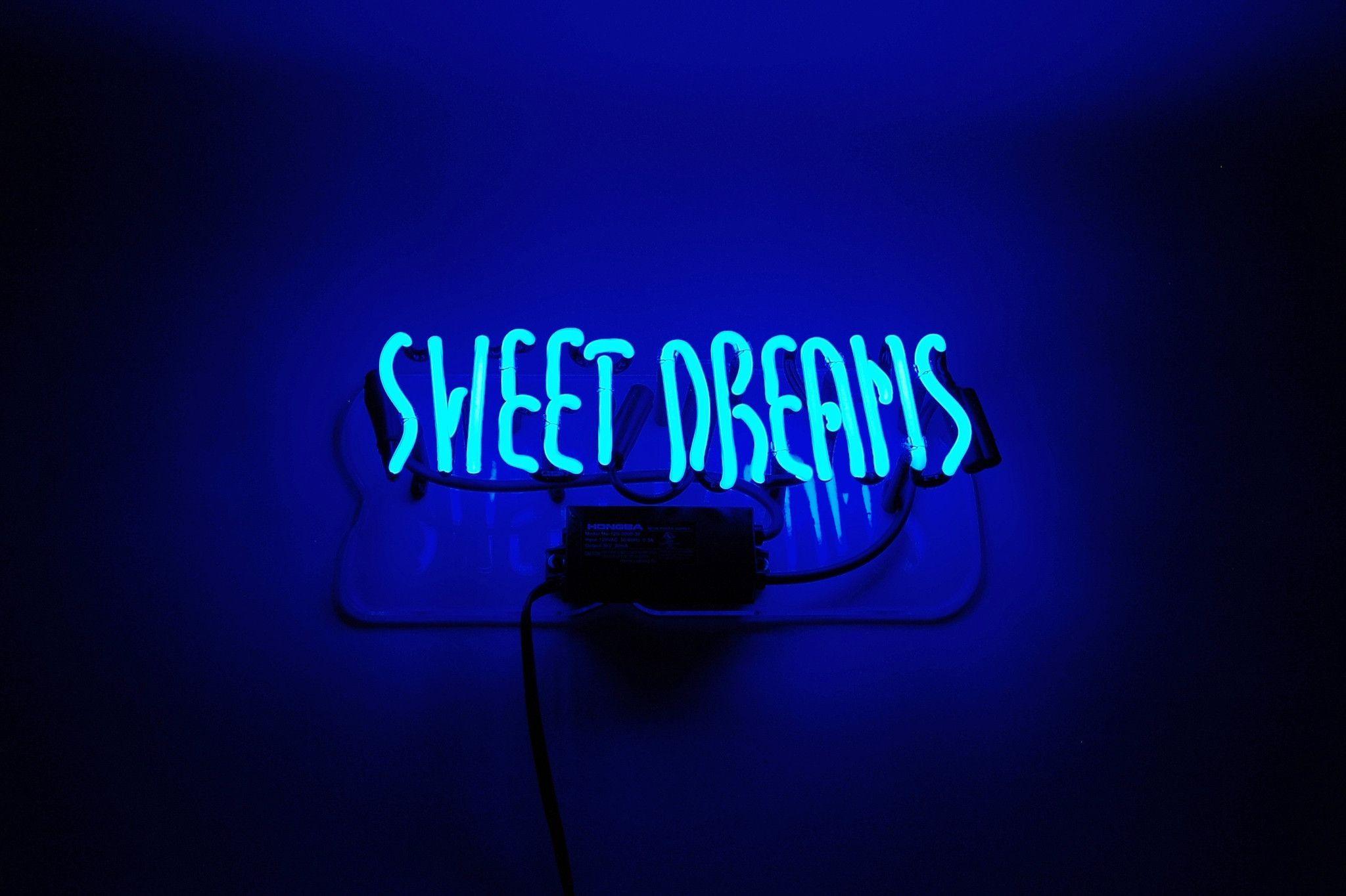 sweet dreams neon sign wallpaper 66618