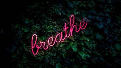 Breathe Neon Sign Wallpaper 66620