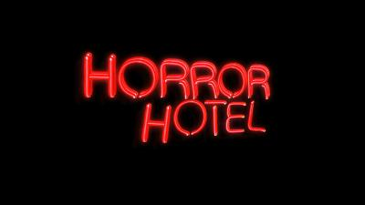 Horror Hotel Neon Sign Logo Wallpaper 66615