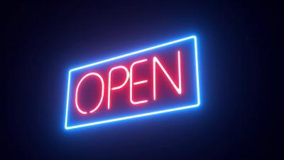 Open Neon Sign Wallpaper 66623