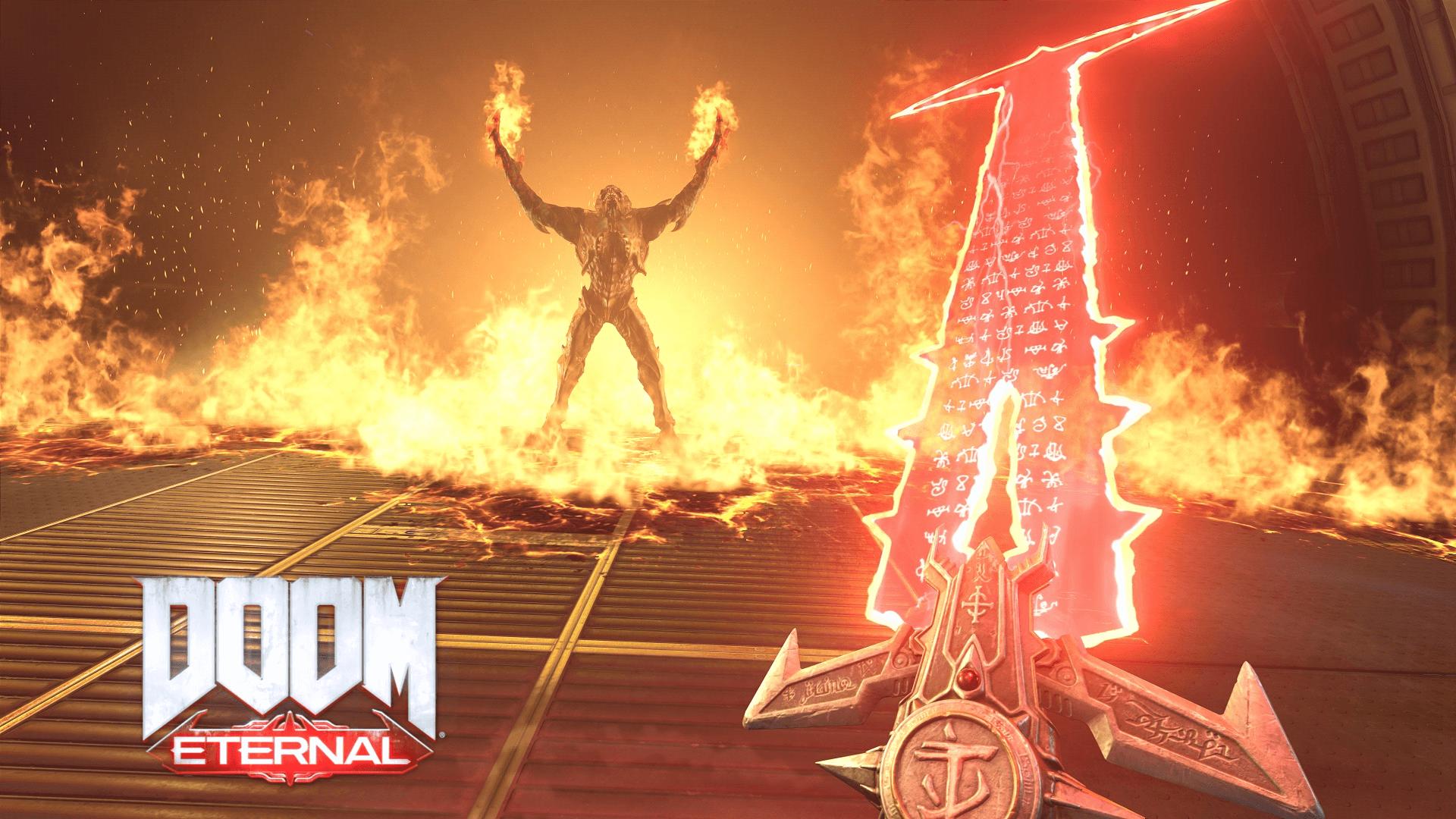 doom eternal sword wallpaper 67563