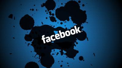 Facebook Splatter Wallpaper 67334