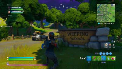 Fortnite Weeping Woods Sign Wallpaper 69342