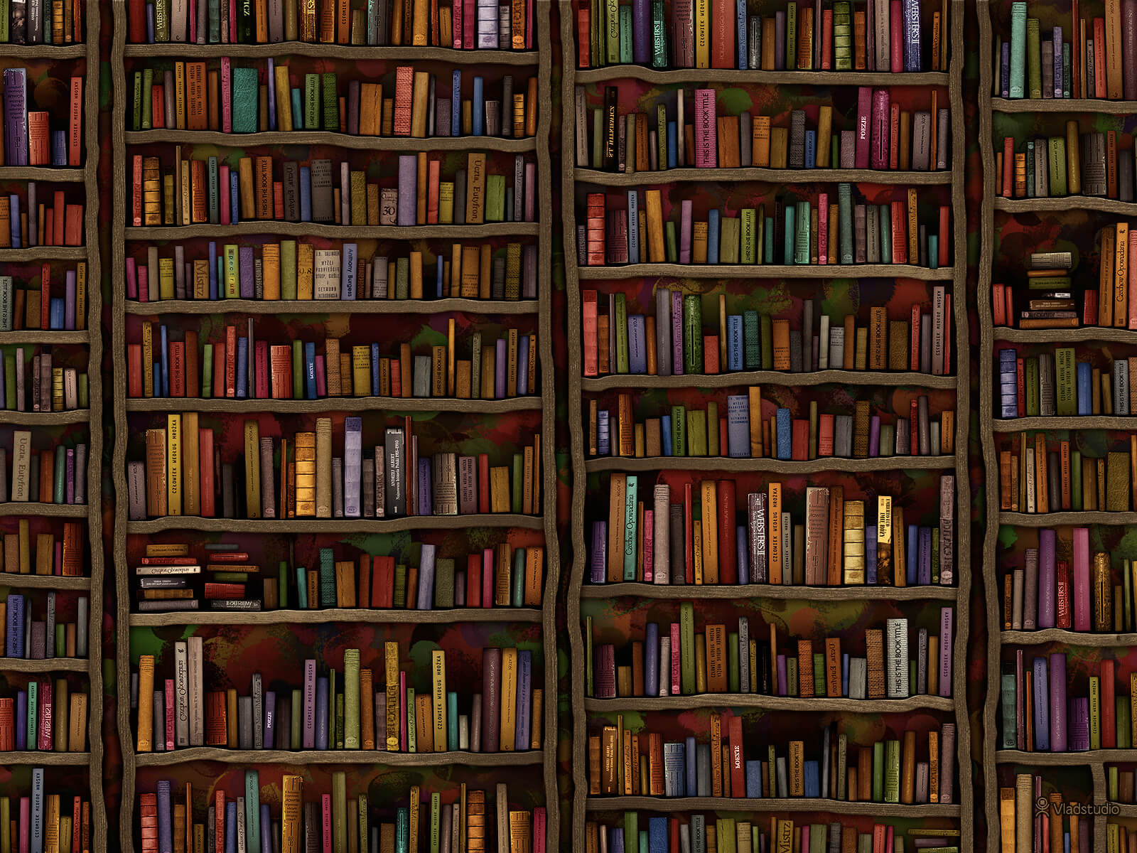 colorful library books wallpaper 67429