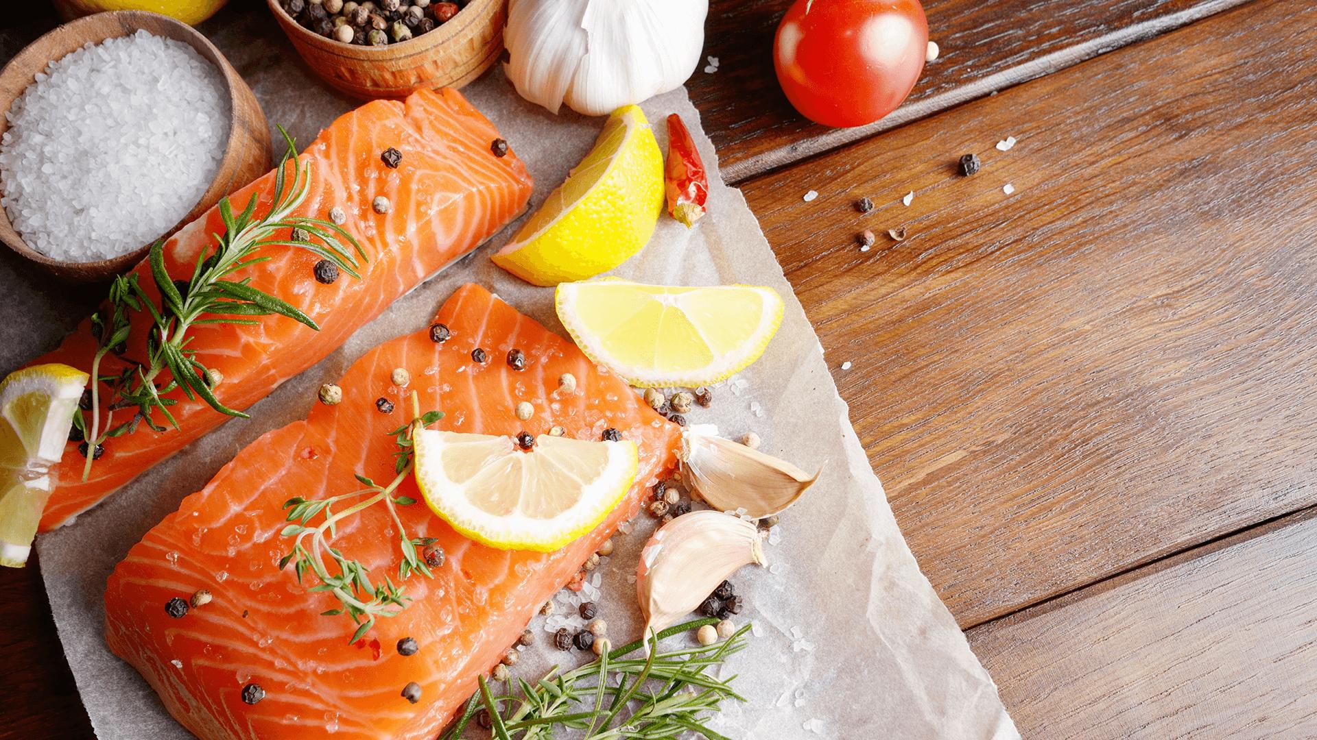 fresh salmon hd wallpaper 66885