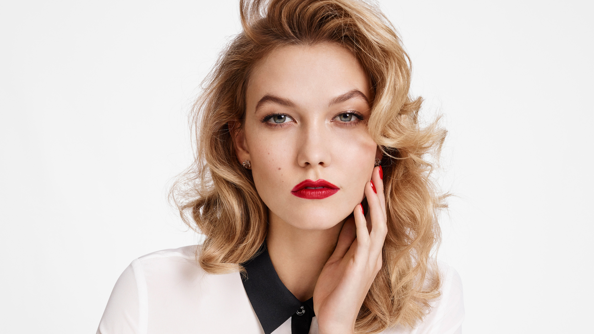 karlie kloss lipstick wallpaper 66698