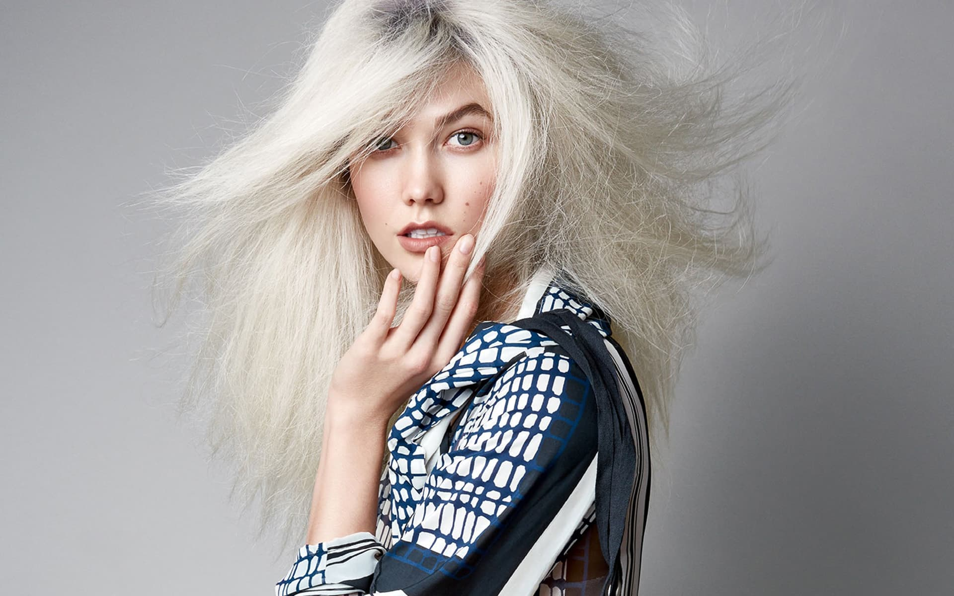 karlie kloss white hair wallpaper 66703