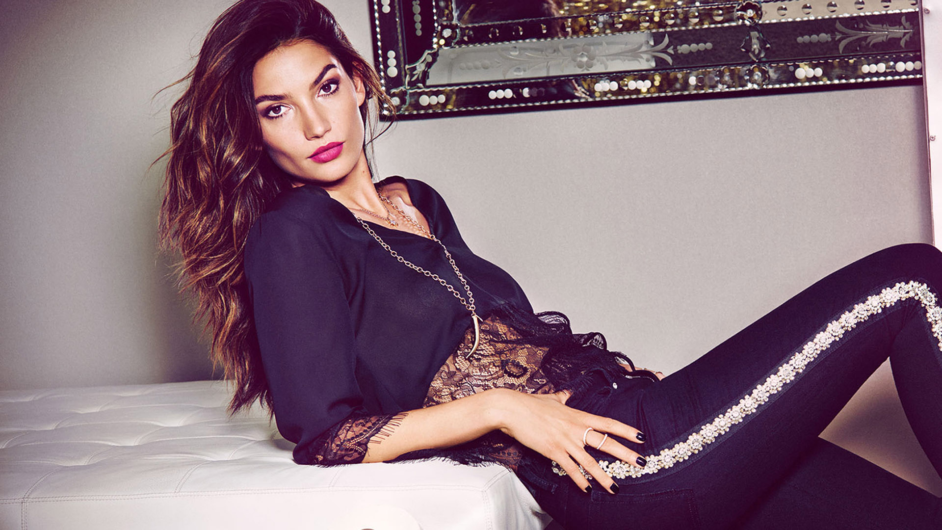 sexy lily aldridge outfit wallpaper 66712