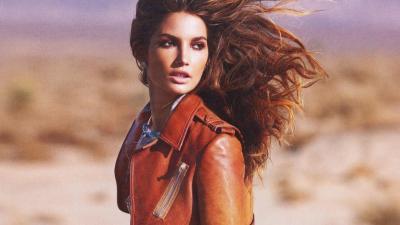 Lily Aldridge Leather Jacket Wallpaper 66709