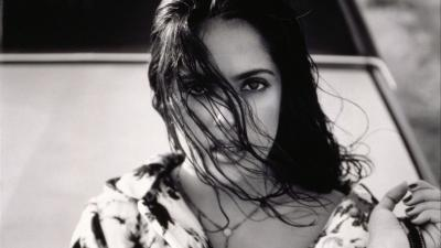 Monochrome Salma Hayek Wallpaper 66905